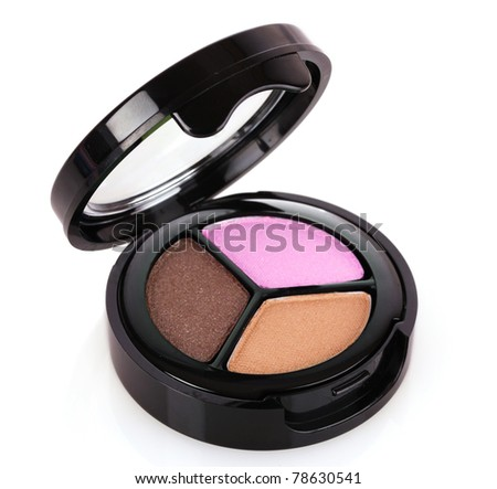 Pink and brown eyeshadows - stock photo