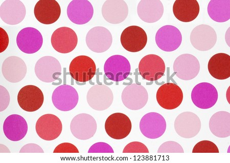 Pink and Red Circle Pattern - stock photo