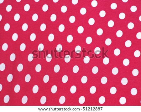 Pink and white polka dots - stock photo