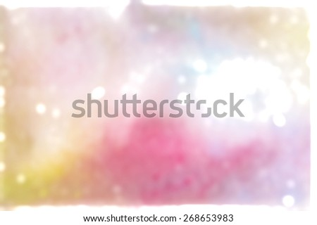 pink and yellow bokeh background - stock photo