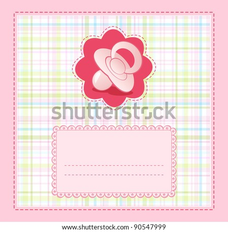pink baby congratulation for girls - stock photo