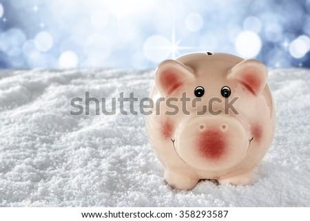 pink bank  - stock photo