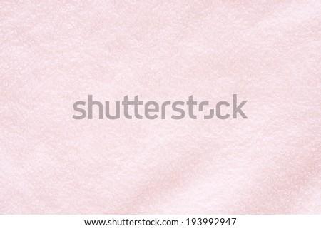 pink bath towel - stock photo