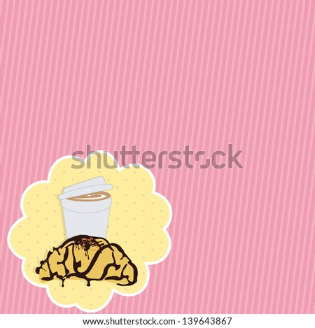 Pink Breakfast  Background.  - stock photo