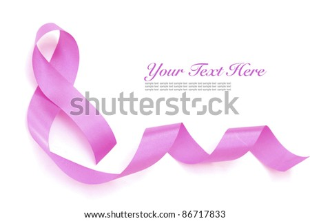 Pink breast cancer ribbon. - stock photo