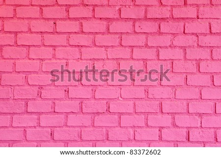 Pink brick wall - stock photo