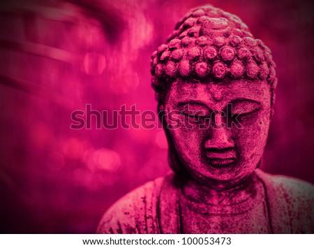 Pink Buddha - stock photo