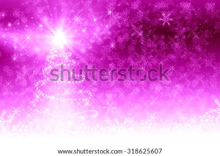 Pink Christmas Tree background - stock photo