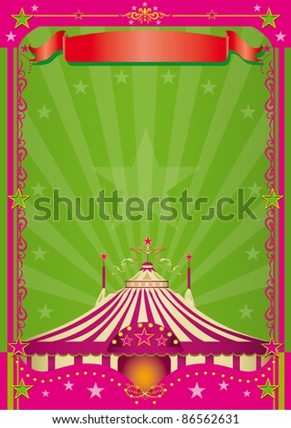 Pink Circus A circus background with a large copy space for your message. - stock photo