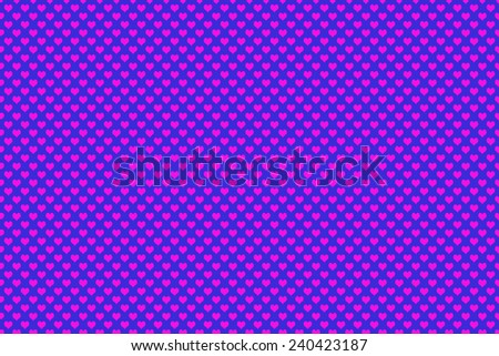 Pink Colored Heart Shape with blue background - stock photo