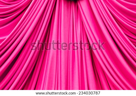 pink curtain texture for background - stock photo