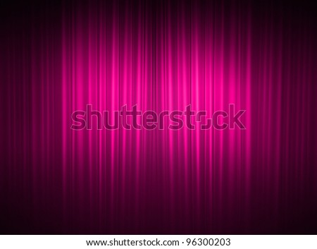 Pink curtains - stock photo