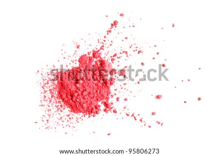 Pink Eye shadow - stock photo