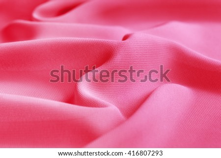 pink fabric folds abstract background - stock photo