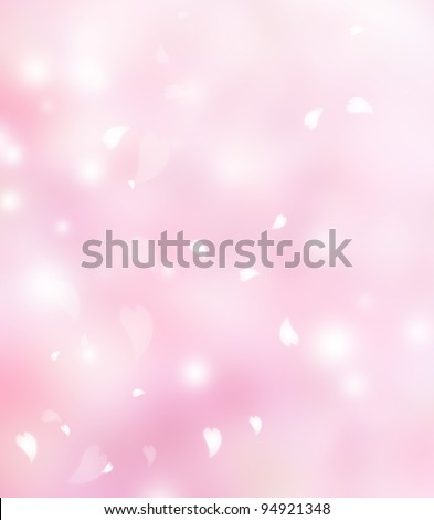 Pink flower petals background - stock photo
