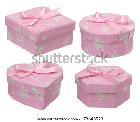 Pink Gift box.  - stock photo