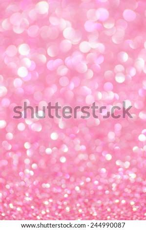 pink glitter valentine's day background - stock photo