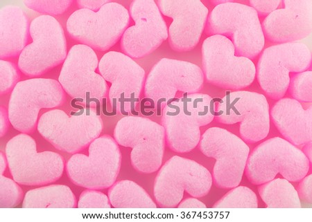 pink heart of buffer packaging  material for web page background - stock photo