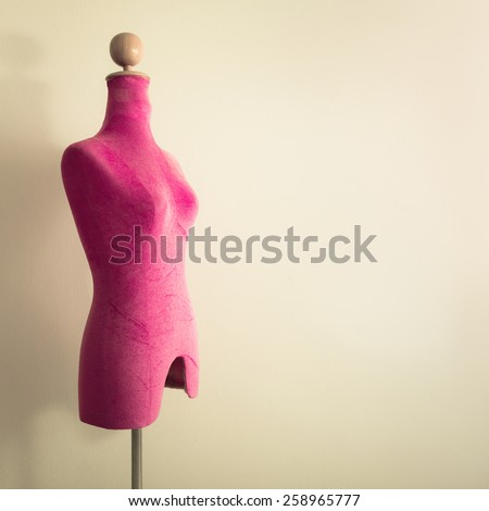 Pink mannequin - stock photo