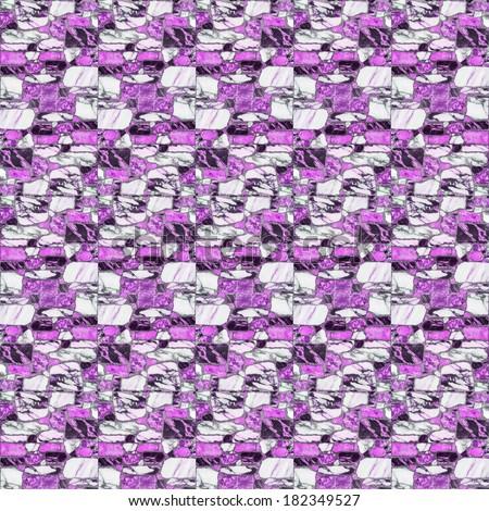 pink marble floor tiles - stock photo