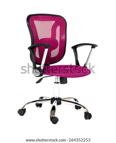 Pink office a chair - stock photo