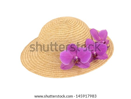 Pink Orchid Hat - stock photo