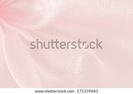 pink organza macro texture background - stock photo