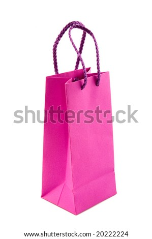pink packing isolated on white - stock photo