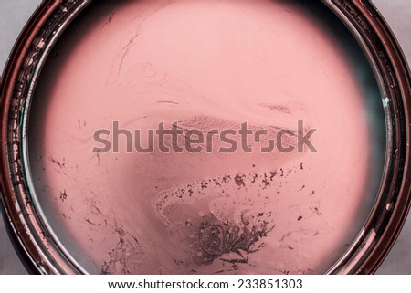 Pink paint in cans - stock photo