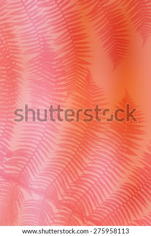 pink palm leaves - stock photo