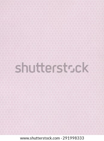 Pink paper background with white pattern - stock photo