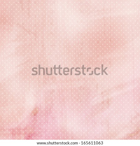 pink pastel background with dots - stock photo