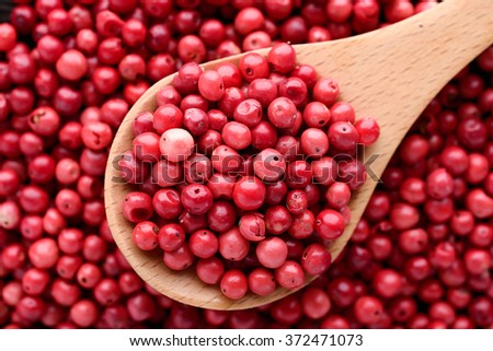 pink pepper - stock photo