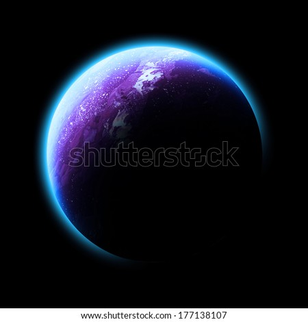 Pink Planet Isolated - Elements of this image furnished by NASA - stock photo