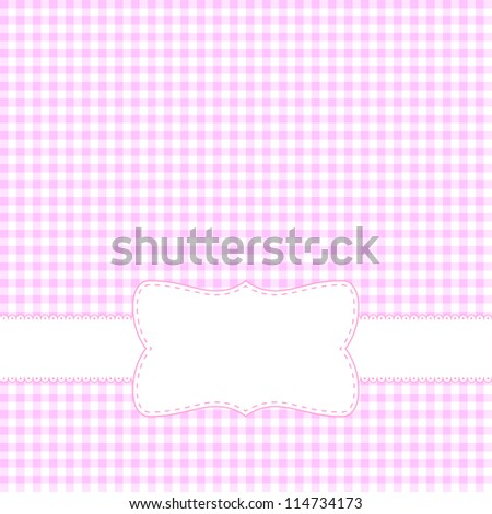 Pink retro frame. Vector available. - stock photo