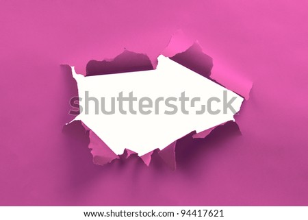 Pink ripped paper background - stock photo
