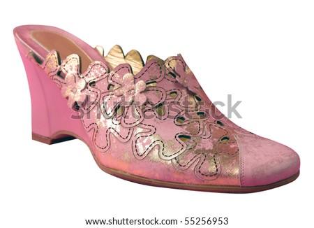 pink shoe - stock photo