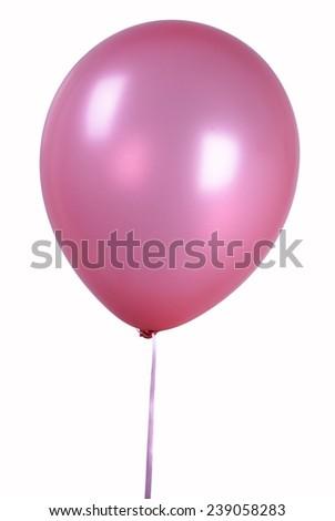 Pink Single balloon - stock photo