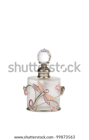 Pink small Perfume bottle - stock photo