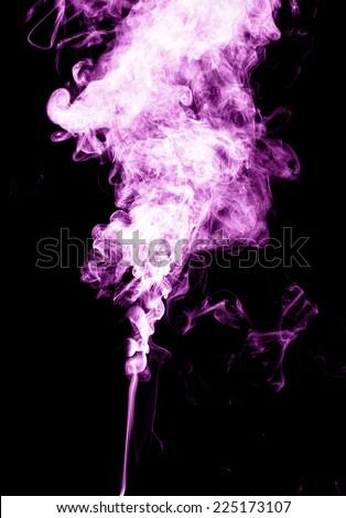 Pink smoke - stock photo