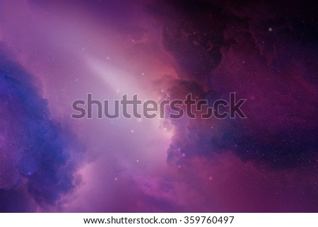 Pink space nebula digital illustration - stock photo