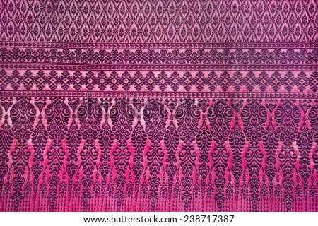Pink thai silk - stock photo