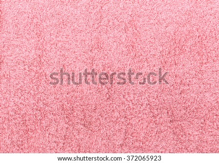 Pink towel texture. Background and texture. - stock photo