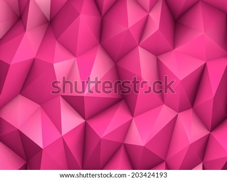Pink triangles background - stock photo
