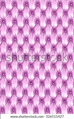 Pink upholstery leather pattern background. - stock photo