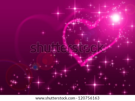 Pink valentines day background - stock photo