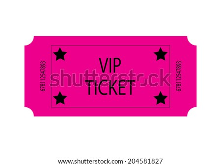 Pink VIP Ticket - stock photo