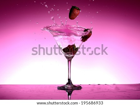 Pink Vodka - stock photo