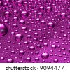 pink water drop for background - stock photo