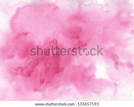 pink watercolor background for your design.painting on paper from my originals - stock photo